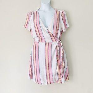 Forever 21 Linen Blend Wrap Dress